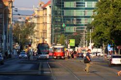 Koněvova ulice v Praze na Žižkově