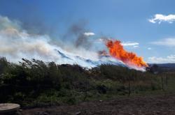 Požár štěpky v Rožmitále pod Třemšínem