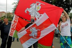 Protirežimní demonstrace ve městě Žodino