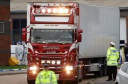 Kamion, v jehož návěsu byli nalezeni mrtví Vietnamci