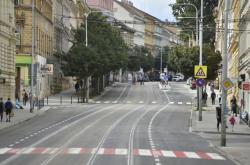 Opravená ulice Veveří