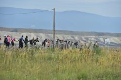 Ekologičtí aktivisté pronikli do lomu Vršany