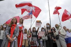 Běloruské ženy protestují v Minsku