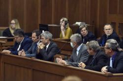 Skupina obžalovaných před Krajským soudem v Ostravě