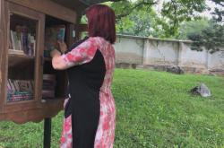 Knižní budka na hřbitově v Mikulově