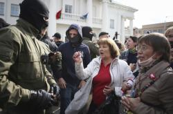 Z minského protestu žen