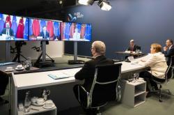 Videokonference lídrů EU s čínským prezidentem