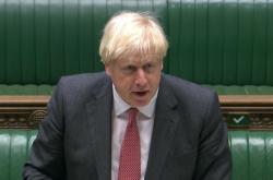 Premiér Boris Johnson na jednání ve sněmovně