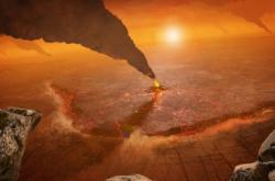 Umělecká představa aktivních sopek na Venuši