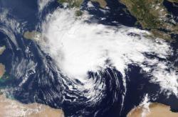 Tvořící se medikán ve Středozemním moři
