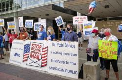 Protest proti změnám v americké poště
