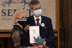 Věra Kuberová a Miloš Vystrčil