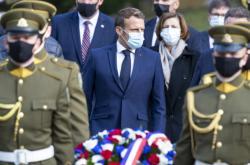 Francouzský prezident Emmanuel Macron ve Vilniusu