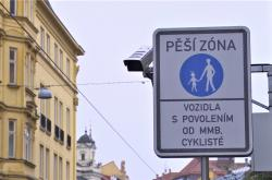 Pěší zóna v centru Brna
