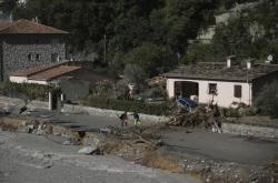 Následky povodní ve francouzském Breil-sur-Roya