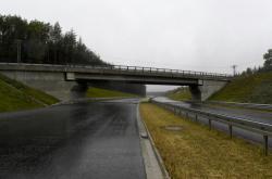 Dokončovaný úseku dálnice D6 mezi Novým Strašecím a Řevničovem