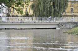 Zvýšená hladina řeky ve Veselí nad Moravou