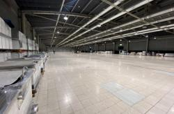 Stavba záložní nemocnice na brněnském výstavišti