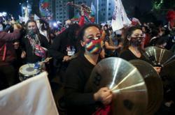 Oslavy v ulicích hlavního města Santiaga de Chile