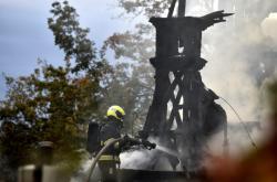 Požár kostela sv. Michala v Praze