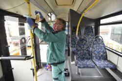 Dezinfekce autobusu
