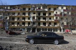 Město Šuša po pátečním ostřelování