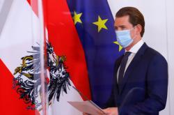 Rakouský kancléř Sebastian Kurz představuje nová opatření proti koronaviru