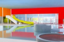 Vizualizace krytého bazénu v Karviné