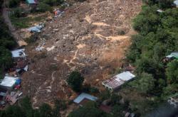 Nejhůře postiženou zemí je po sesuvech půdy Guatemala