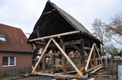 Přesun domu v německém Martfeldu