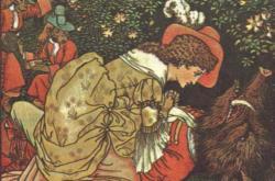 Ilustrace příběhu O krásce a zvířeti z roku 1874