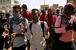 Říjnová demonstrace v Chartúmu za urychlení reforem