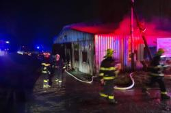Požár drůbežárny v Červeném Hrádku