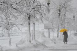 Sněhová bouře udeřila i na Boston