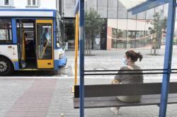 Zastávka autobusu v Ostravě