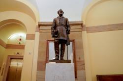 Socha generála Leeho, která už v Kapitolu nestojí