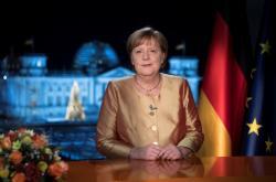 Angela Merkelová během novoročního projevu