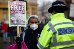 Demonstrace za Assange