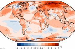 Rozdíl v teplotách mezi roky 1981-2010 a rokem 2020