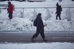 Madrid zasypal sníh