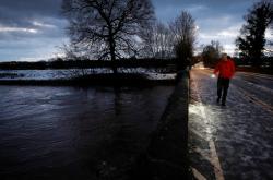 Zaplavený most v Didsbury