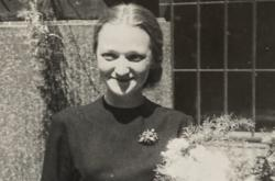 Jiřina Čechová v den promoce na Filosofické fakultě Univerzity Karlovy