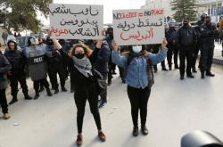 Demonstrace v Tunisku