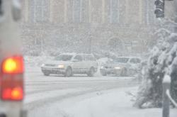 Husté sněžení v Karlovarském kraji