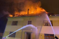 Požár domu v Moravském Berouně