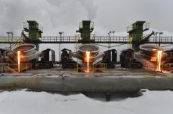 Zimní provoz ve struskárně společnosti Liberty Ostrava na snímku z 10. února 2021.