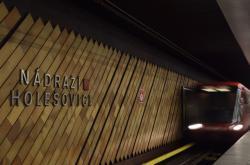 Metro ve stanici Nádraží Holešovice
