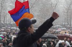Protivládní demonstrace v Jerevanu