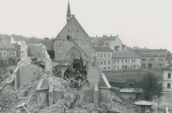 Ruiny kostela v Hustopečích