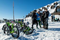 Cyklisté vyrazili do Krkonoš i na konci ledna